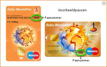 Plaatje bij uitleg over pasnummer